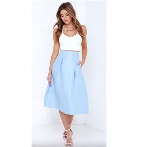 Baby Blue A Line Skirt Small